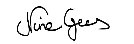 Unterschrift Nine Gees